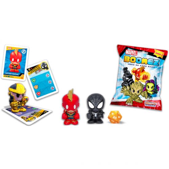 Bustine Boomez Marvel Hero Card Game Display 14 Pezzi