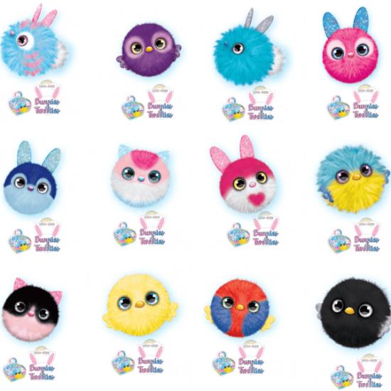 Display 12 Pezzi Doki Doki Bunnies & Tweeties 12 Personaggi Diversi